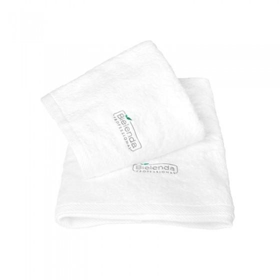 BIELENDA Ręcznik frotte z LOGO 50 x100 Biały 1 szt.