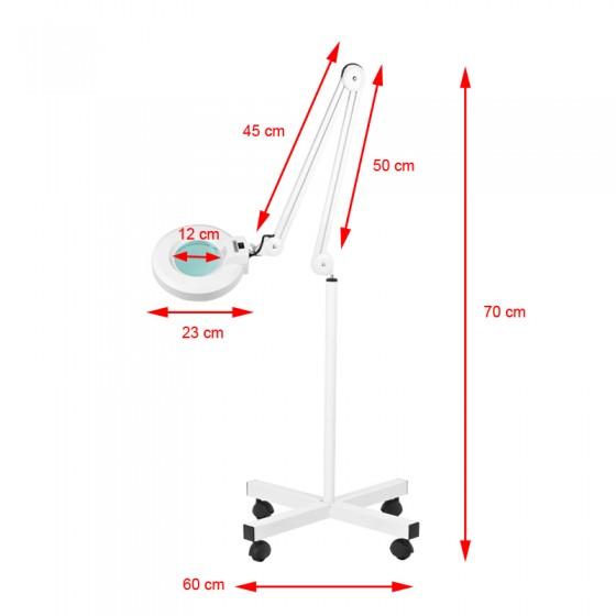 LAMPA LUPA LED S4 + STATYW LED REG. NATĘŻENIE ŚWIATŁA