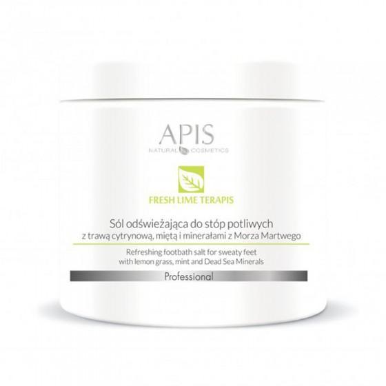 APIS Fresh Lime terApis sól do stóp potliwych z trawą cytrynową 650g