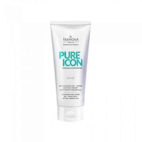 FARMONA PURE ICON Oczyszczający żel-maska do mycia twarzy z aktywnym węglem 200 ml