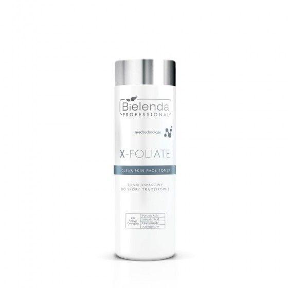 BIELENDA X – FOLIATE Clear Skin Tonik kwasowy do skóry trądzikowej 200 ml
