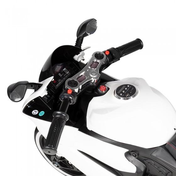 MOTOCYKL ŚCIGACZ NA AKUMULATOR SX1628 BIAŁY