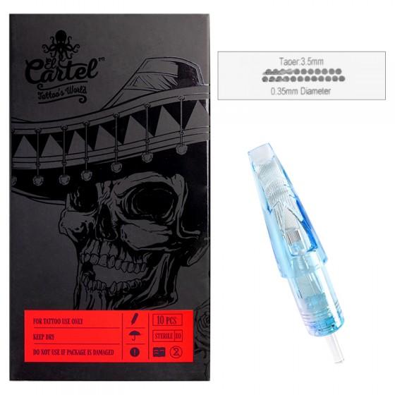 Igły Kartridże do tatuażu El Cartel 0.35mm 23 Magnum 10 szt.