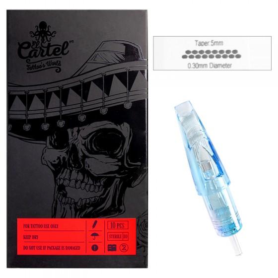 Igły Kartridże do tatuażu El Cartel 0.30mm 17 Magnum LT 10 szt.