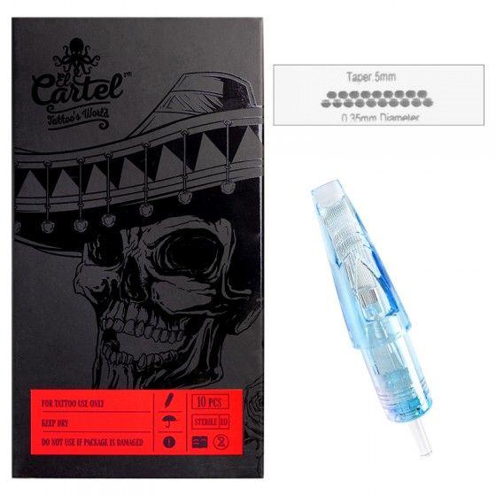 Igły Kartridże do tatuażu El Cartel 0.35mm 19 Magnum LT 10 szt.