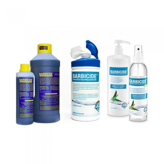 BARBICIDE - ZESTAW Koncentrat 2000 ml + HAND DISINFECTION 250 ml + WIPES 120 szt.